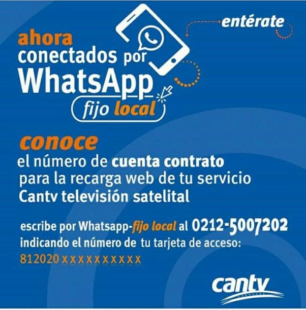 Conocer Numero de Contrato de Cantv Satelital