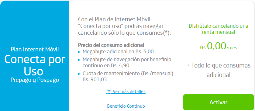 Plan internet movil
