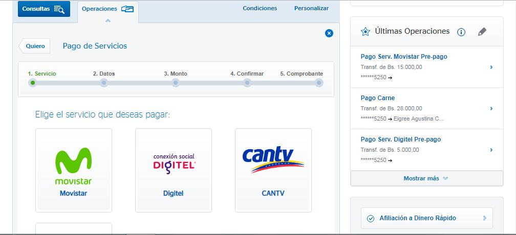 Recarga Movistar Banco Provincial