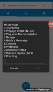 Consulta Saldo Movistar Colombia Menu *611#