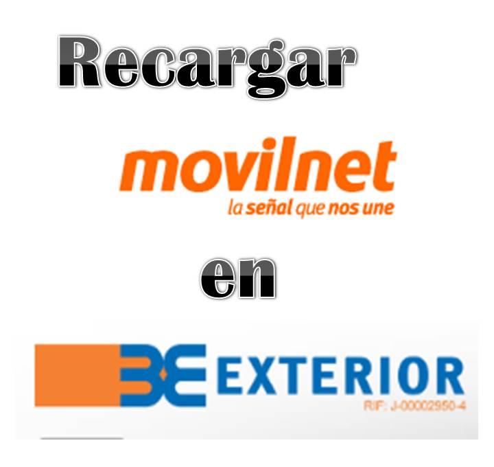 Recargar Movilnet en el Banco Exteriror