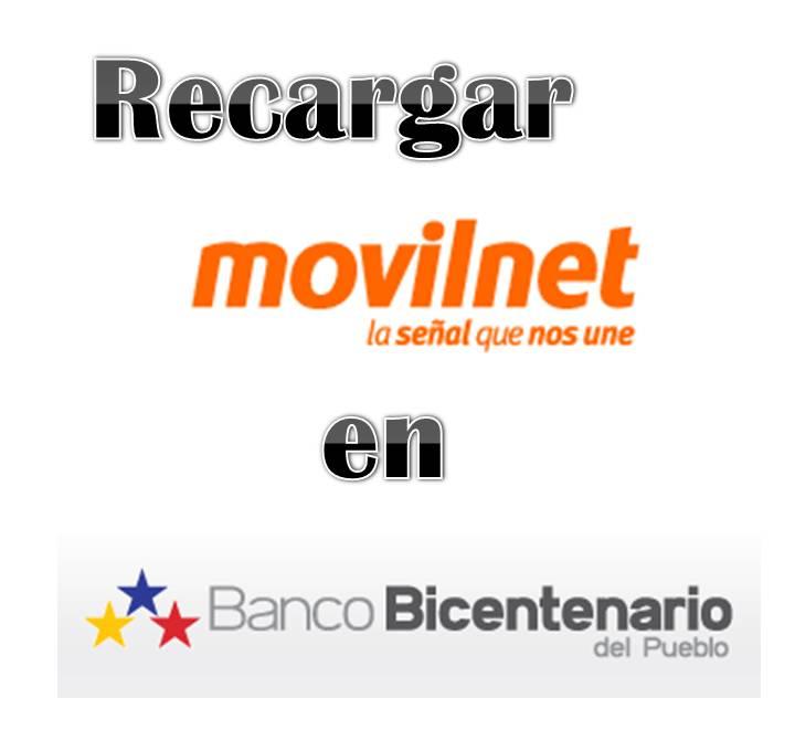 Recargar Movilnet en Banco Bicentenario