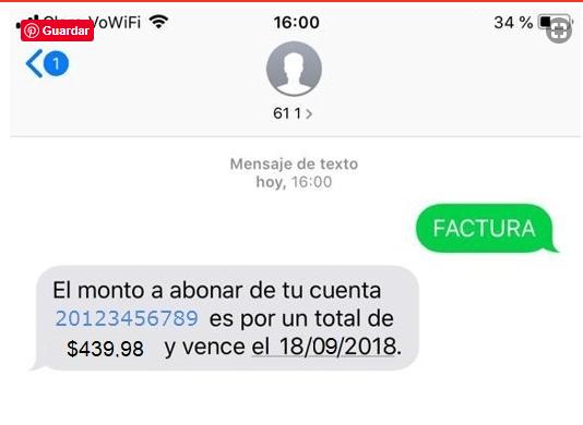 Factura Claro por SMS