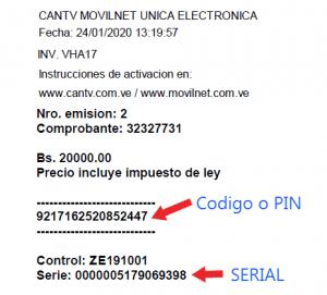 Tarjeta Moviltnet Electronica 20.000 Bs
