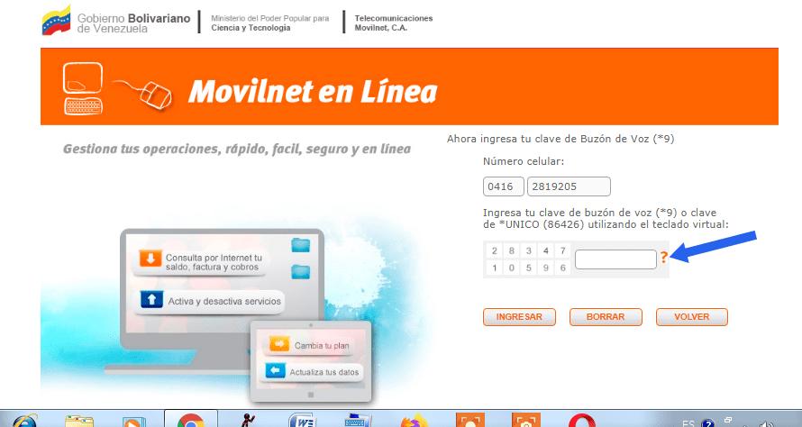 Consultar Saldo Movilnet