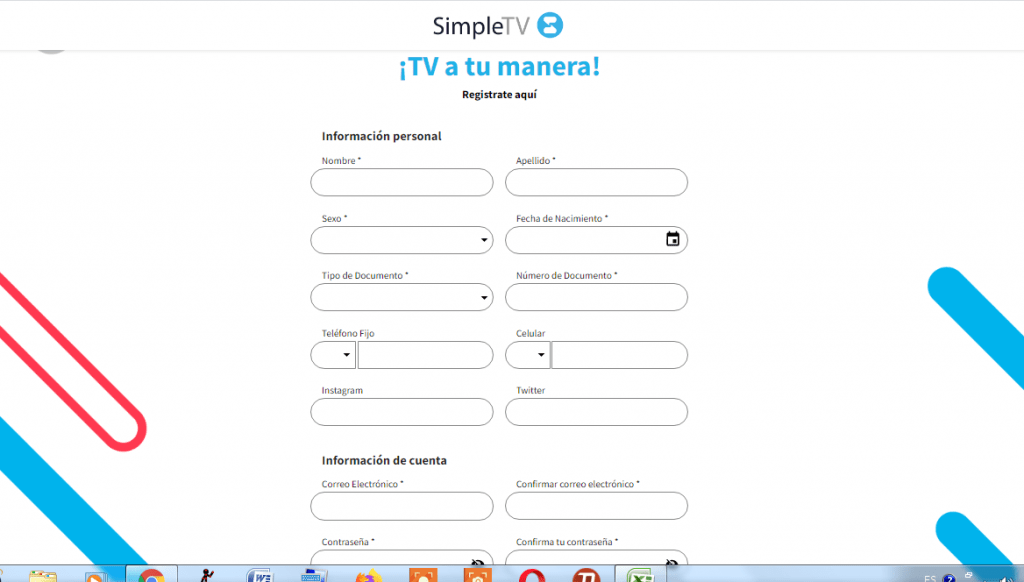 Registro en SIMPLE TV