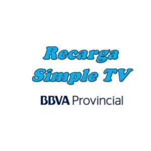 Recarga Simple TV Banco Provincial
